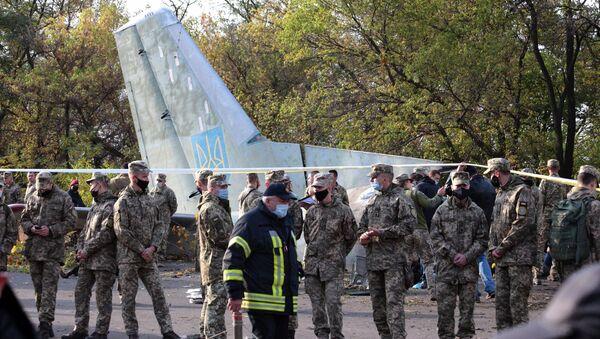 Олупина војно-транспортног авиона Ан-26 украјинског ратног ваздухопловства - Sputnik Србија