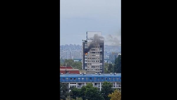 Požar na Novom Beogradu - Sputnik Srbija