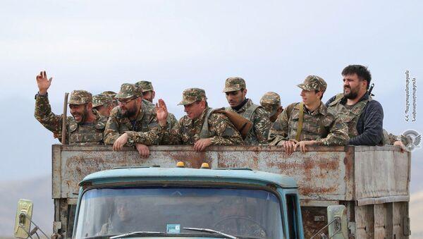 Jermenski vojnici tokom borbi u Nagorno-Karabahu - Sputnik Srbija