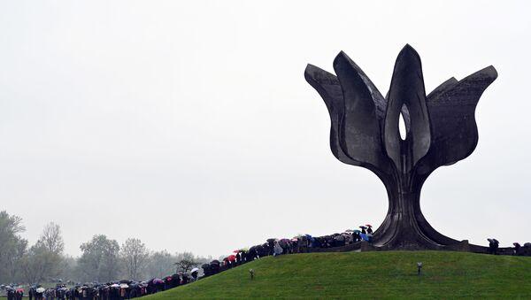 Споменик у Јасеновцу - Sputnik Србија