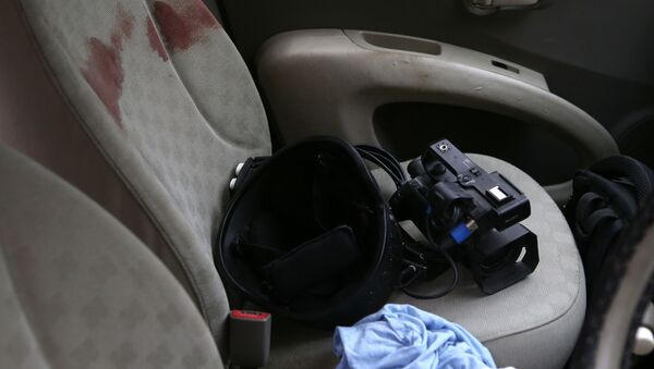Automobil ranjenih novinara u sukobu u Nagorno-Karabahu - Sputnik Srbija