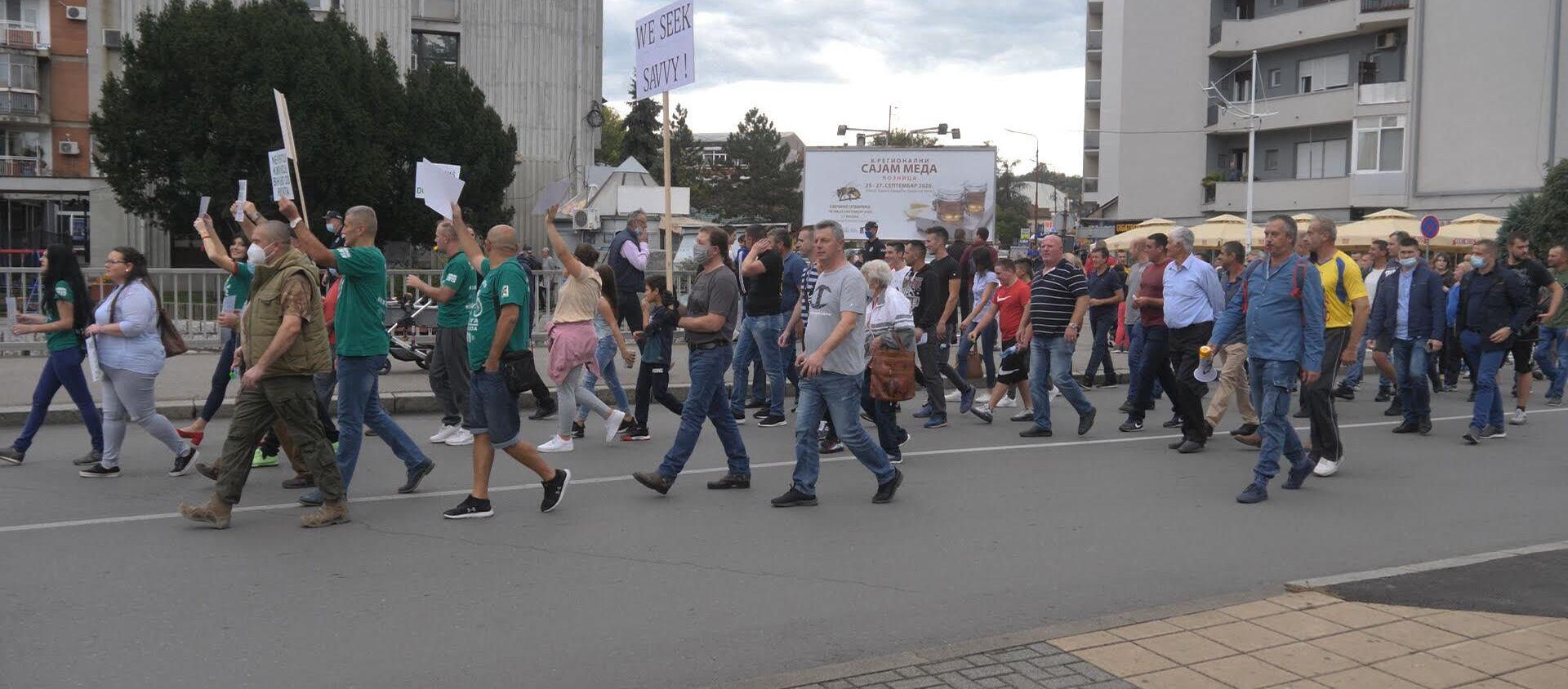 Протест Лозничана против рудника покретања рудника литијума - Sputnik Србија, 1920, 02.10.2020