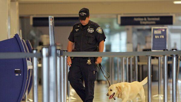Policajac na aerodromu u Njujorku - Sputnik Srbija