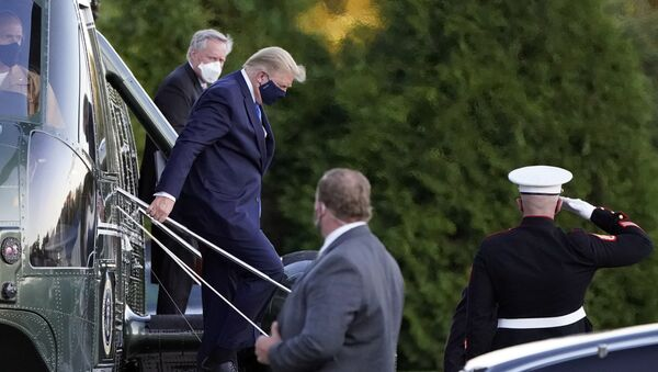 Доналд Трамп је хеликоптером пребачен у болницу због вируса корона - Sputnik Србија