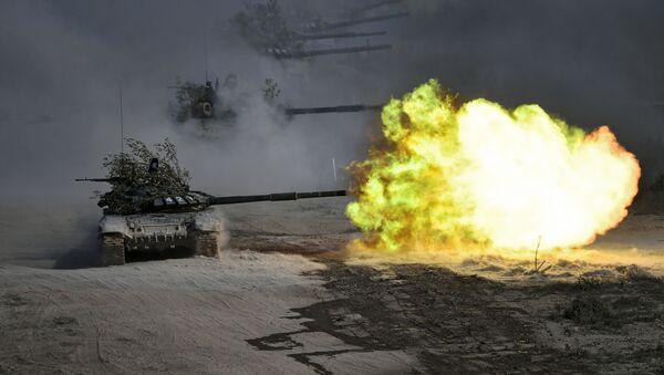 Тенково Т-72 на војним вежбама Кавказ 2020 - Sputnik Србија