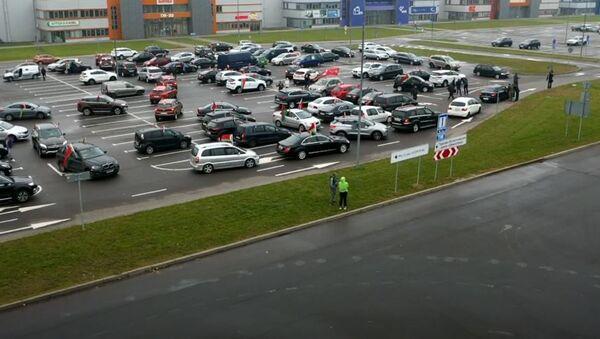 Ауто-трка у Белорусији у знак подршке Лукашенку  - Sputnik Србија