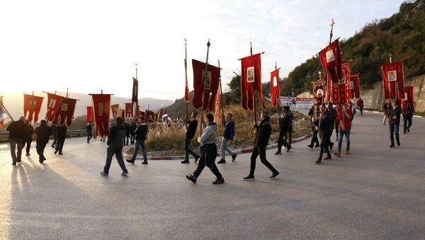 Mirni protest u odbranu prava Srpske pravoslavne crkve u Crnoj Gori - Sputnik Srbija