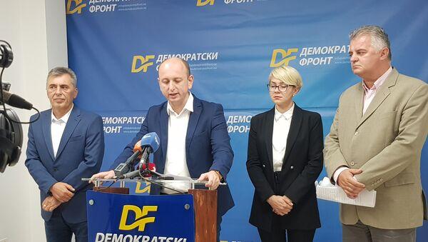 Konferencija za štampu Demokratskog fronta - Sputnik Srbija