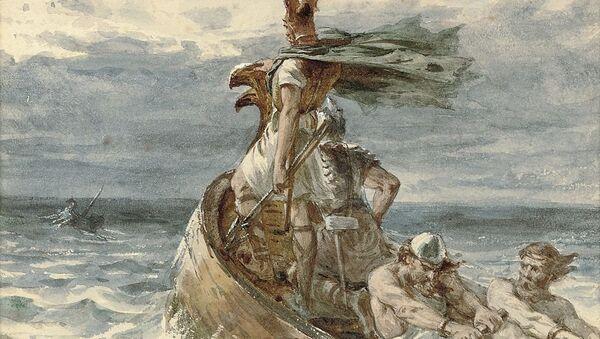 Umetnički prikaz vikinga na otvorenom moru - Sputnik Srbija