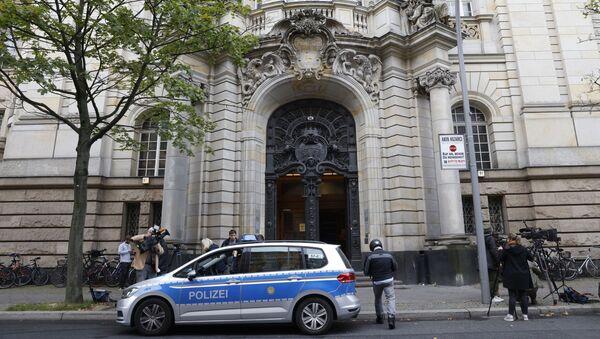 Полицијско возило испред суда у Берлину - Sputnik Србија