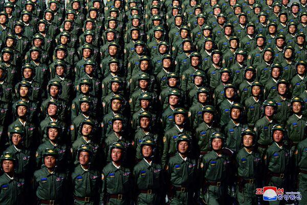 Vojna parada u čast 75. godišnjice Radničke partije Severne Koreje  - Sputnik Srbija