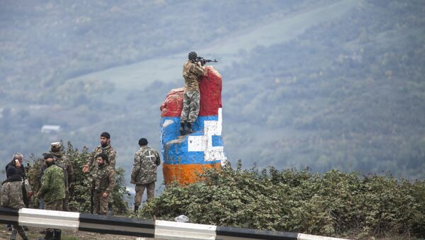Pripadnici Armije odbrane Karabaha tokom sukoba sa Azerbejdžanom - Sputnik Srbija