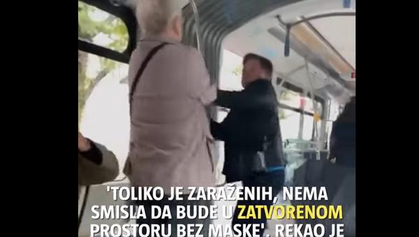 Туча у трамвају због маске - Sputnik Србија