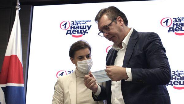 Ana Brnabić i Aleksandar Vučić - Sputnik Srbija