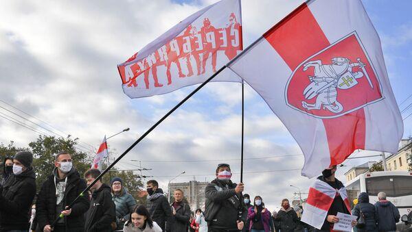 Присталице белоруске опозиције на протесту у Минску - Sputnik Србија
