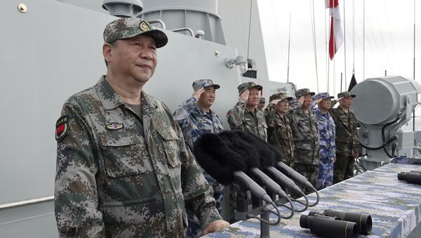 Kineski predsednik Si Đinping tokom posete mornarici u Južnom kineskom moru - Sputnik Srbija