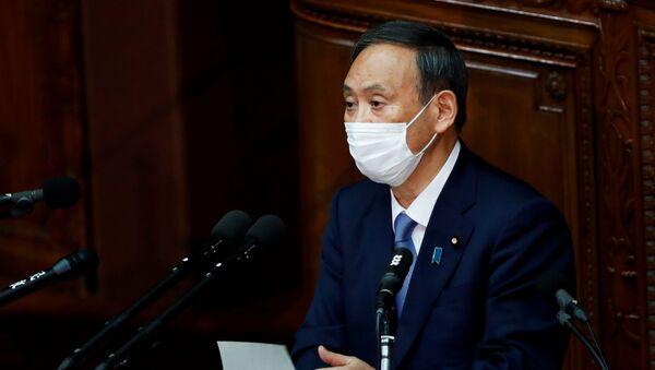 Премијер Јапана Јошихиде Суга  - Sputnik Србија