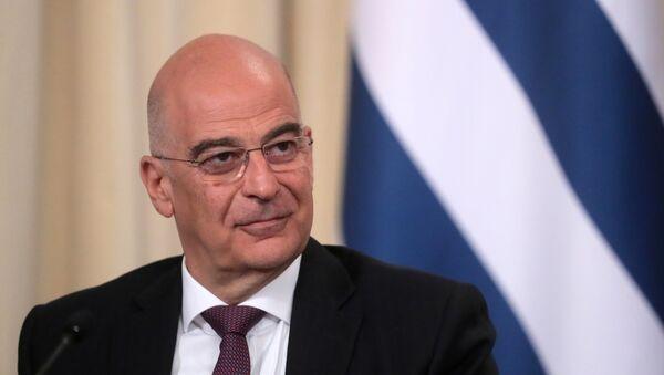 Ministar spoljnih poslova Grčke Nikos Dendijas  - Sputnik Srbija