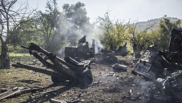 Уништена војна техника Армије одбране Карабаха у рејону Хадрута - Sputnik Србија
