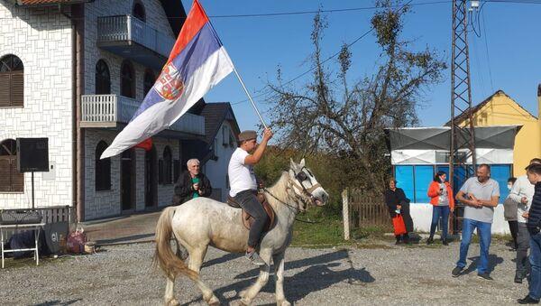 Protest u selu Brezjak kod Loznice.  - Sputnik Srbija