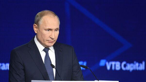 """Vladimir Putin na Investicionom forumu """"Rusija zove!"""" 2019. godine - Sputnik Srbija"""