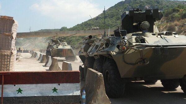 Zajednička vojna rusko-turska patrola u sirijskoj provinciji Idlib - Sputnik Srbija