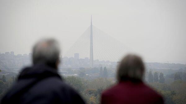 Поглед са Калемегдана на мост на Ади - Sputnik Србија