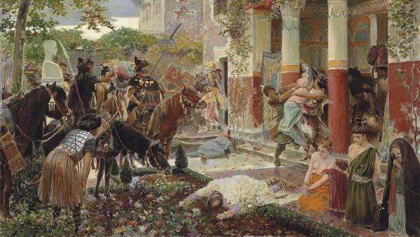 Slika Atiline horde pljačkaju rimsku vilu - Sputnik Srbija