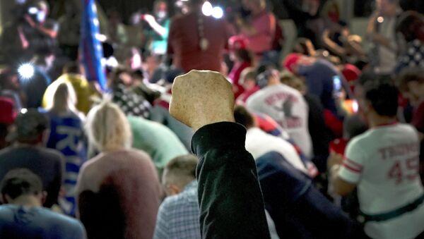 Подигнута песница на протесту у Америци - Sputnik Србија