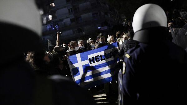 Protest protiv zaključavanja u Solunu - Sputnik Srbija