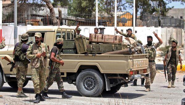 Pripadnici snaga libijske Vlade nacionalnog sporazuma u glavnom gradu Libije, Tripoliju - Sputnik Srbija