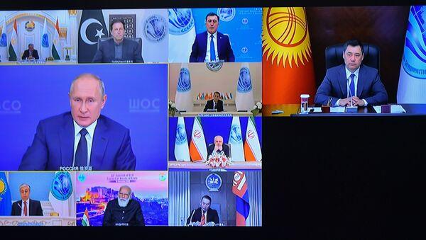Učesnici onlajn samita Šangajske organizacije za saradnju - Sputnik Srbija