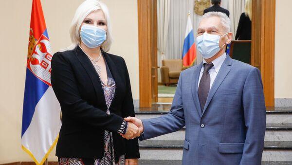 Министарка енергетике Зорана Михајловић и руски амбасадор Александар Боцан-Харченко - Sputnik Србија