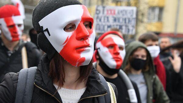 """Учесници протеста белоруске опозиције """"Народни ултиматум у Минску  - Sputnik Србија"""