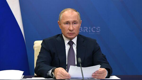 Руски председник Владимир Путин на самиту БРИКС-а - Sputnik Србија
