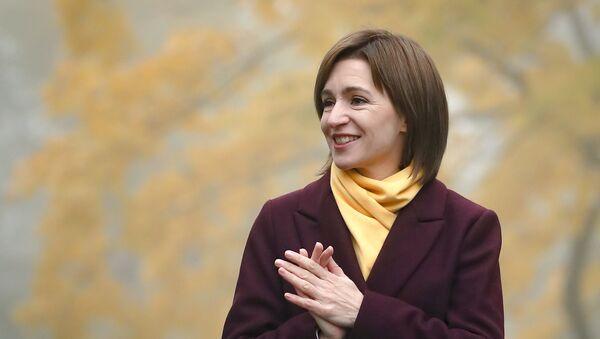 Novoizabrana predsednica Moldavije Maja Sandu - Sputnik Srbija