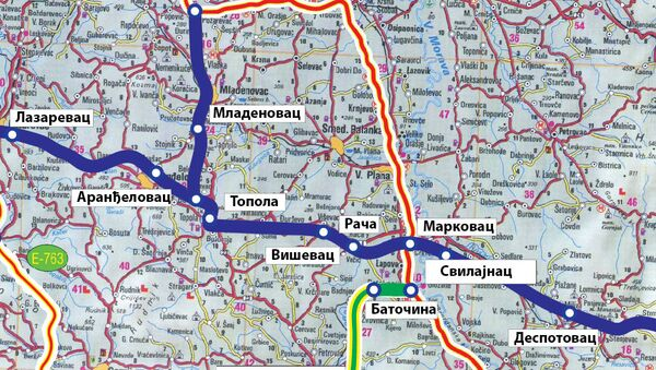 vožd karađorđe mapa - Sputnik Srbija