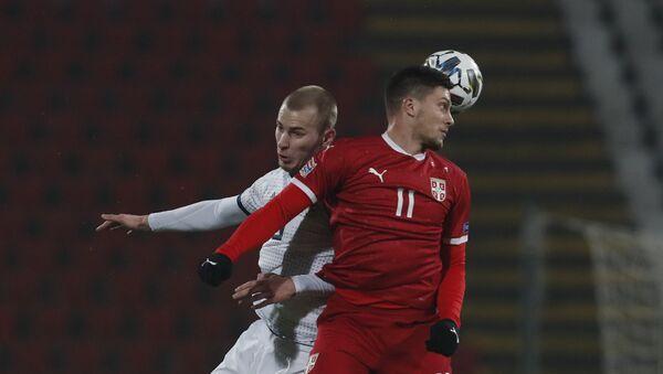 Luka Jović na utakmici Srbija Rusija u Beogradu - Sputnik Srbija