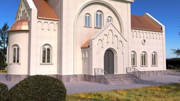 Budući izgled crkve Svetog Save, prvog hrama posvećenog najvećem srpskom svetitelju u Rusiji. - Sputnik Srbija