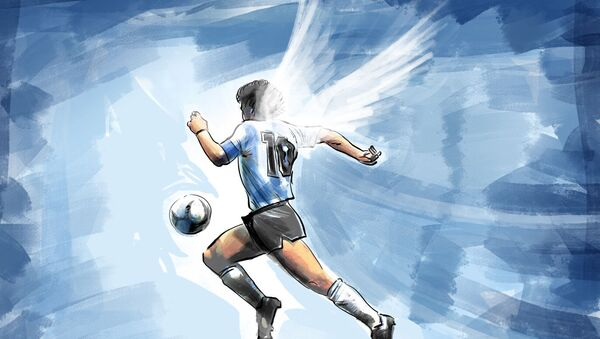 Дијего Марадона, илустрација - Sputnik Србија