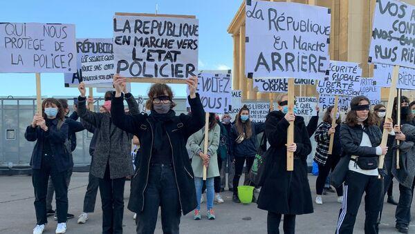 Протести у Паризу против Закона о безбедности - Sputnik Србија