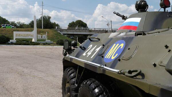 Oklopno vozilo ruskih mirovnih snaga u Pridnjestrovlju - Sputnik Srbija