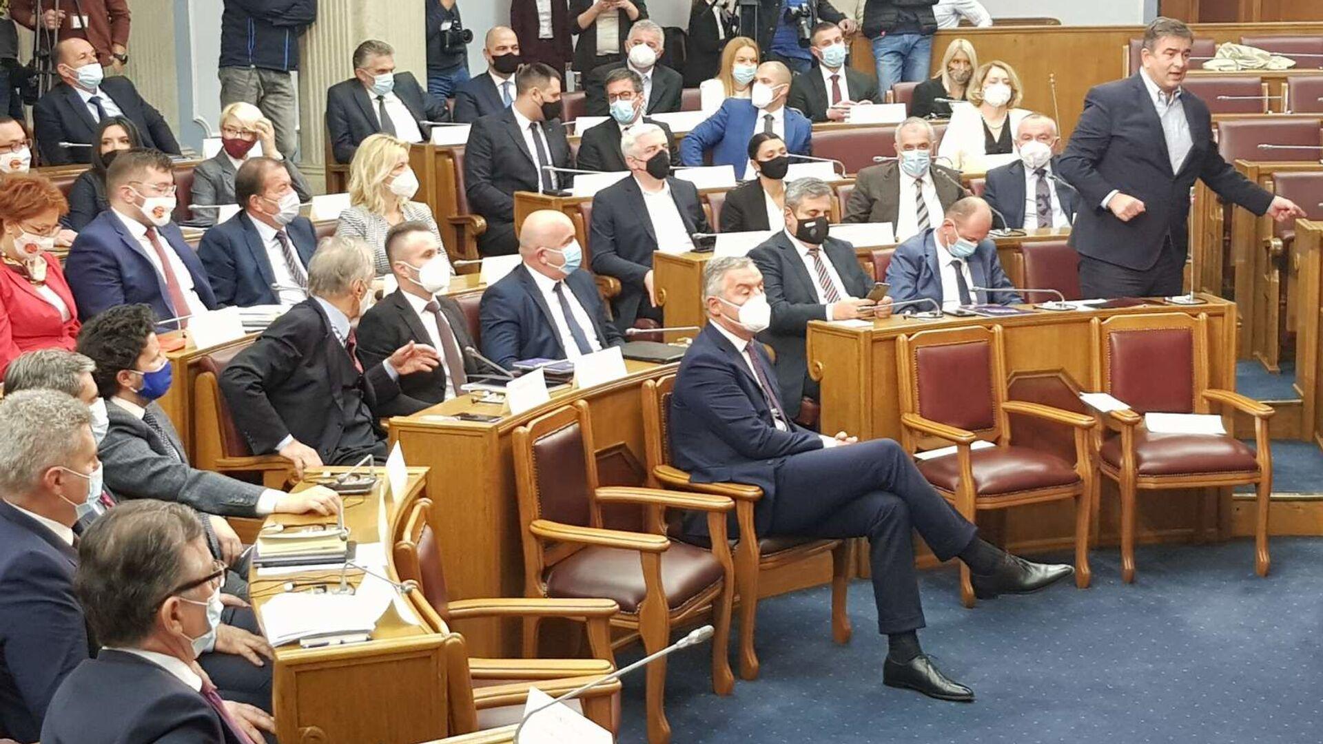 Председник Црне Горе Мило Ђукановић на представљању предлога нове владе - Sputnik Србија, 1920, 16.09.2021