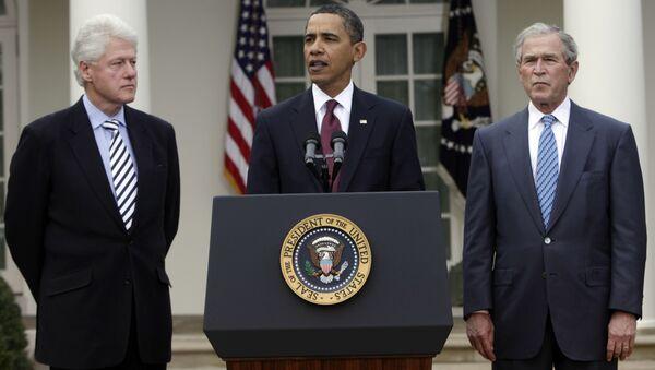 Бил Клинтон, Барак Обама и Џорџ Буш млађи - Sputnik Србија