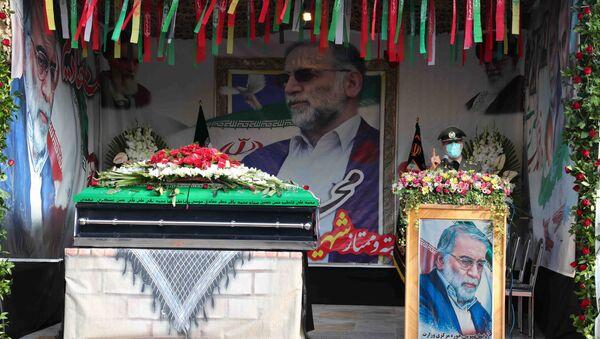 Ceremonija sahrane iranskog nuklearnog naučnika Mohsena Fahrizadea u Teheranu - Sputnik Srbija