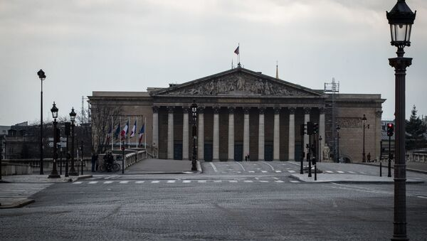 Zgrada francuske Nacionalne skupštine u Parizu - Sputnik Srbija