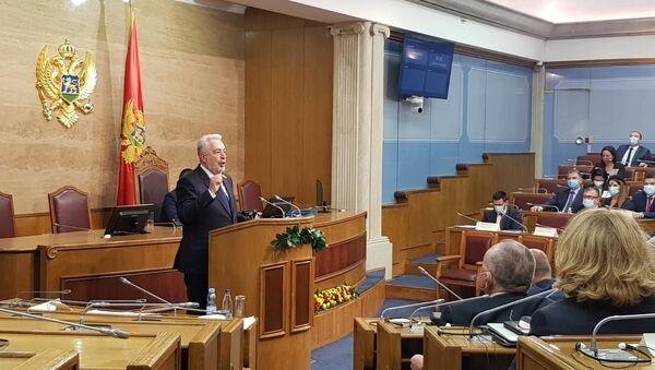 Zdravko Krivokapić u Skupštini Crne Gore - Sputnik Srbija