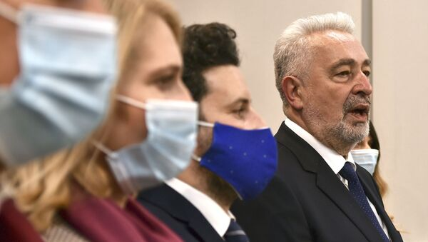 Premijer Crne Gore Zdravko Krivokapić i potpredsednik Vlade Crne Gore Dritan Abazović - Sputnik Srbija
