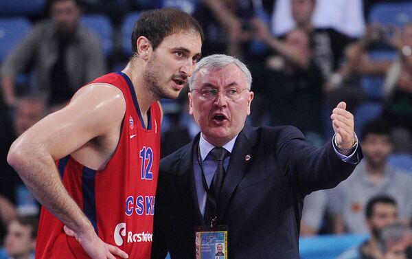 Nenad Krstić tri puta je osvajao VTB sa CSKA. - Sputnik Srbija