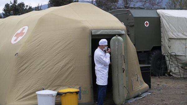 Пољска болница руских мировних снага у Нагорно-Карабаху - Sputnik Србија